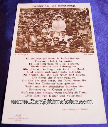 POSTCARD - KRONPRINZESSIN CECILIE - SONS - TROOPS - Imperial German Military Antiques Sale