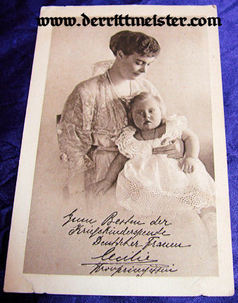 POSTCARD - KRONPRINZESSIN CECILIE - DAUGHTER - Imperial German Military Antiques Sale