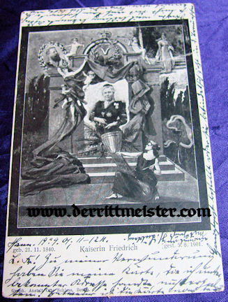 POSTCARD - KAISERIN FRIEDRICH (VICTORIA) - Imperial German Military Antiques Sale