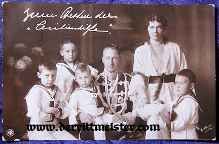 POSTCARD - KRONPRINZ WILHELM - KRONPRINZESSIN CECILIE - FOUR OLDEST SONS - Imperial German Military Antiques Sale