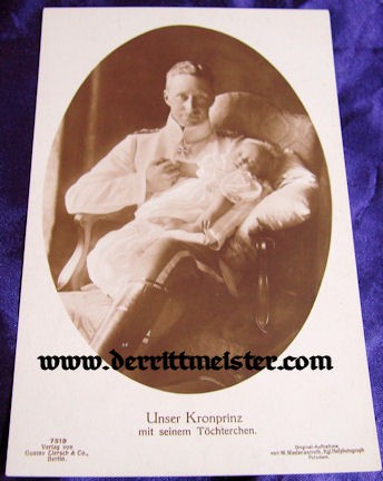 POSTCARD - KRONPRINZ WILHELM - DAUGHTER PRINZESSIN ALEXANDRINE - Imperial German Military Antiques Sale