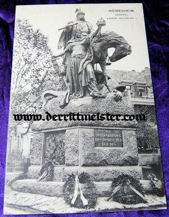 POSTCARD - MONUMENT - KAISER WILHELM I - Imperial German Military Antiques Sale