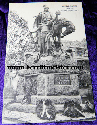 POSTCARD - MONUMENT - KAISER WILHELM I - Imperial German Military Antiques Sale