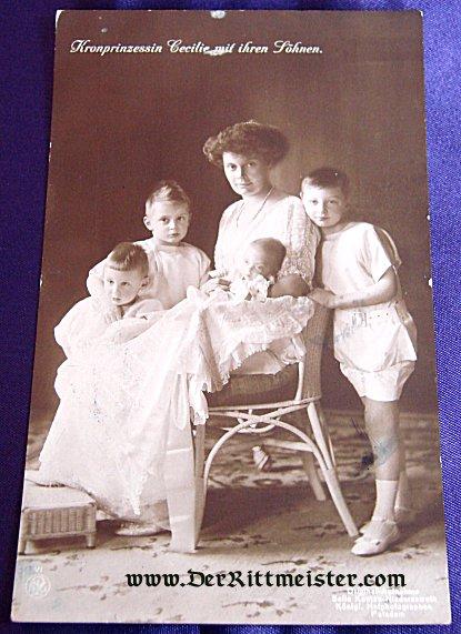 POSTCARD - KRONPRINZESSIN CECILIE - FOUR CHILDREN - Imperial German Military Antiques Sale