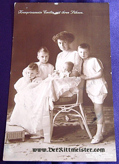 POSTCARD - KRONPRINZESSIN CECILIE - FOUR CHILDREN - Imperial German Military Antiques Sale