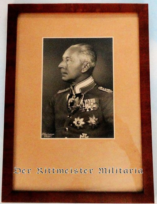 FRAMED PHOTOGRAPH OF KRONPRINZ WILHELM - Imperial German Military Antiques Sale