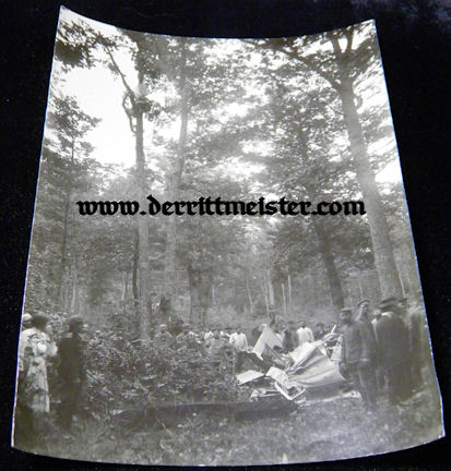 LARGE-FORMAT PHOTOGRAPH - CRASHED AIRPLANE - Imperial German Military Antiques Sale
