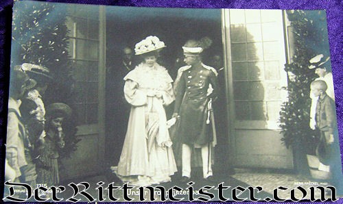 POSTCARD - CROWN PRINCE WILHELM AND CROWN PRINCESS CECILIE - Imperial German Military Antiques Sale