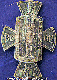 GERMANY - BADGE - VETERAN'S - INFANTERIE- REGIMENT Nr 31 - COMMEMORATING 100th ANNIVERSARY - Imperial German Military Antiques Sale