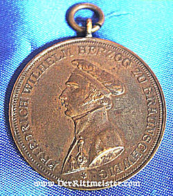 BRAUNSCHWEIG - ANNIVERSARY MEDAL -  INFANTERIE - REGIMENT Nr 92 - Imperial German Military Antiques Sale