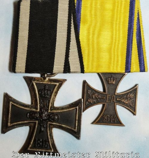 BRAUNSCHWEIG - MEDAL BAR - TWO PLACE - Imperial German Military Antiques Sale