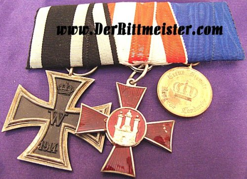 GERMANY - MEDAL BAR - THREE PLACE - Imperial German Military Antiques Sale