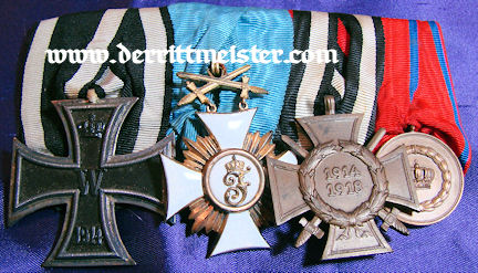 WÜRTTEMBERG - MEDAL BAR - FOUR PLACE - Imperial German Military Antiques Sale