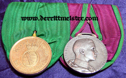 SAXE-COBURG-GOTHA - MEDAL BAR - TWO PLACE - Imperial German Military Antiques Sale