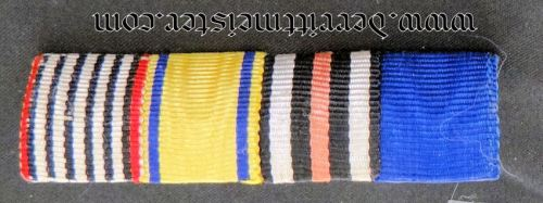GERMANY - RIBBON BAR -FOUR PLACE - Imperial German Military Antiques Sale