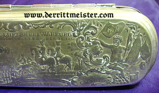PRUSSIA - TOBACCO BOX - ERA 1750 - 1775 - FREDERICK THE GREAT'S TIME - Imperial German Military Antiques Sale