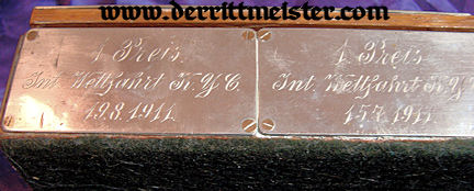 PRUSSIA - STORAGE BOX - KAISERLICHER YACHT CLUB PRIZE PLAQUES - Imperial German Military Antiques Sale