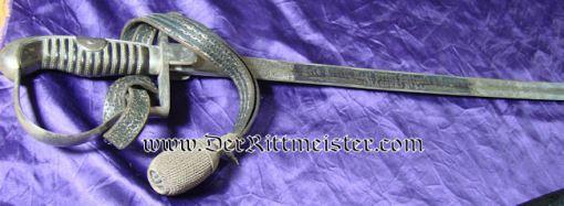 "PRUSSIA - SWORD WITH PORTÉPÉE  - OFFICER - FELD-ARTILLERIE-REGIMENT Nr 4 ""BLUE PANEL"" - Imperial German Military Antiques Sale"