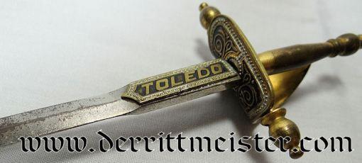 SPAIN - MINIATURE SWORD - LETTER OPENER  - DESK PIECE (NON IMPERIAL GERMAN) - Imperial German Military Antiques Sale