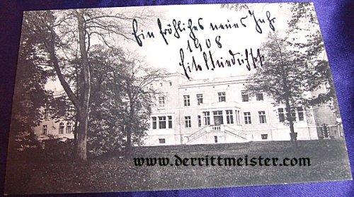 PRUSSIA - AUTOGRAPHED POSTCARD - PRINZ EITEL FRIEDRICH von PREUßEN - Imperial German Military Antiques Sale