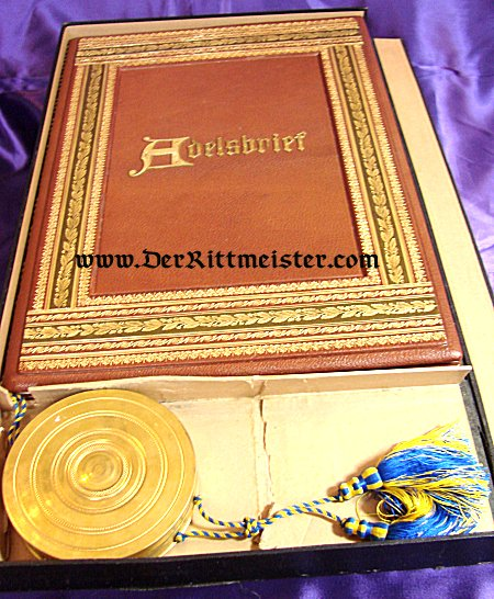 BRAUNSCHWEIG - ADELSBRIEF  (ADEL LETTER) - Imperial German Military Antiques Sale