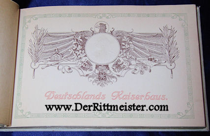 DELUXE ALBUM - FIFTY-FIRST BIRTHDAY - KAISER WILHELM II - Imperial German Military Antiques Sale