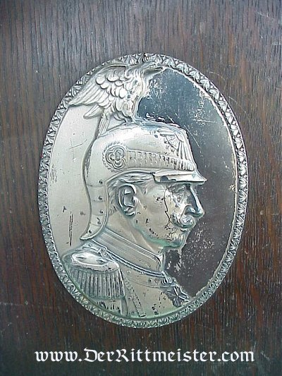 KAISER WILHELM II PLAQUE - Imperial German Military Antiques Sale