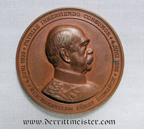 GERMANY - TABLE MEDAL - OTTO VON BISMARCK - Imperial German Military Antiques Sale