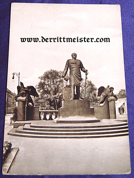 POSTCARD - BISMARCK MONUMENT - DRESDEN - Imperial German Military Antiques Sale