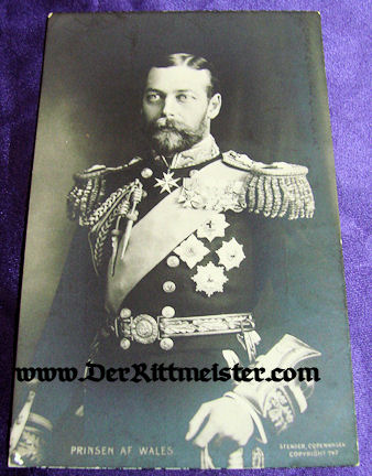 POSTCARD - PRINCE OF WALES - Imperial German Military Antiques Sale