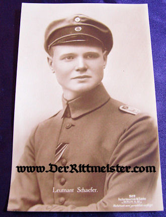 SANKE CARD Nr 507 - PLM WINNER LEUTNANT KARL EMIL SCHÄFER - Imperial German Military Antiques Sale