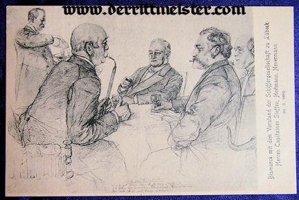 POSTCARD - OTTO von BISMARCK - OTHER OFFICIALS - Imperial German Military Antiques Sale