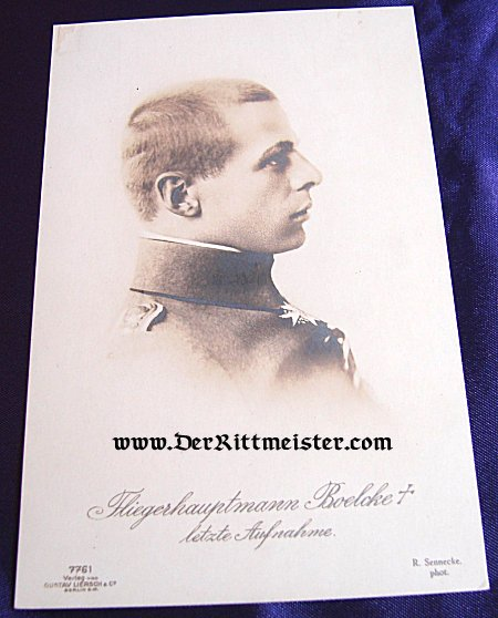GUSTAV LIERSCH CARD Nr 7761 - PLM WINNER HAUPTMANN OSWALD BOELCKE - Imperial German Military Antiques Sale