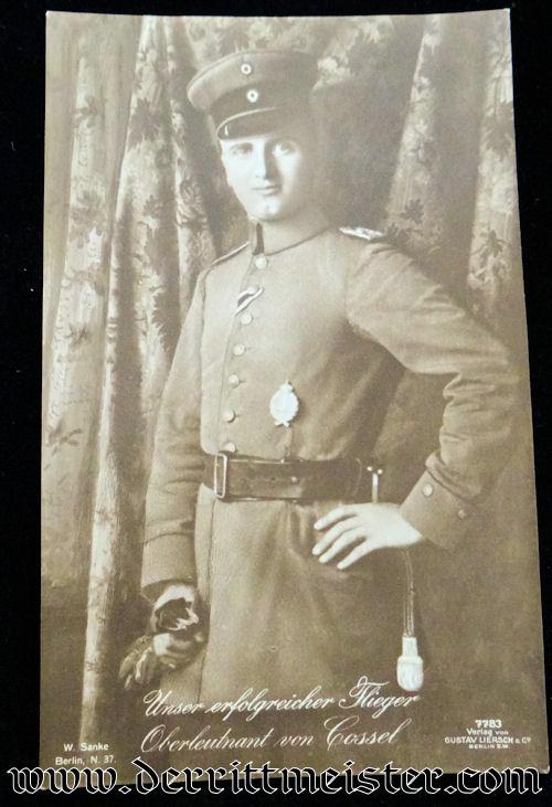 GUSTAV LIERSCH POSTCARD Nr 7783 - OBERLEUTNANT MAX von COSSEL - Imperial German Military Antiques Sale