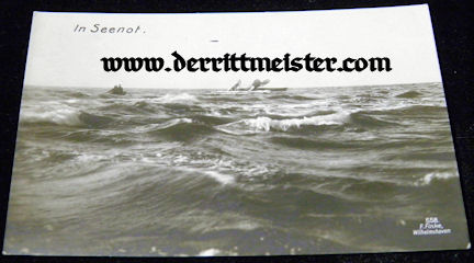 POSTCARD - AIRPLANE - CRASHED - OCEAN - Imperial German Military Antiques Sale