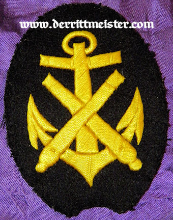 GERMANY - SLEEVE PATCH - ENLISTED SAILOR - SHIPBOARD ARTILLERIE - Imperial German Military Antiques Sale