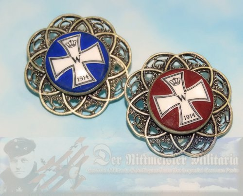 GERMANY - PATRIOTIC PINS - IRON CROSS MOTIF - Imperial German Military Antiques Sale