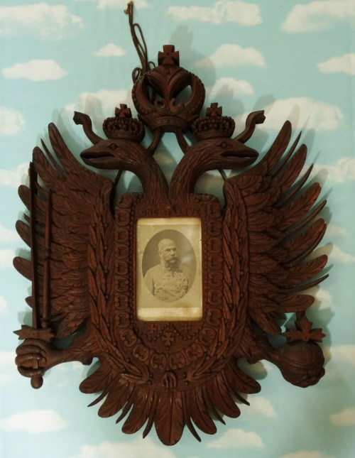 LARGE HAND CARVED HAPSBURG EAGLE - Imperial German Military Antiques Sale
