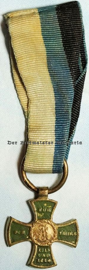 BAVARIA - MINIATURE - MILITARY MEDAL FOR OFFICERS & ENLISTED MEN OF 1813-1815 - Imperial German Military Antiques Sale