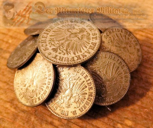 PATRIOTIC PIN MADE OF SMALL DENOMINATION GERMAN COINS - Imperial German Military Antiques Sale