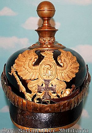 """PRUSSIA - KUEGELHELM - RESERVE OFFICER - ARTILLERIE -  WITH """"FRW"""" WAPPEN - Imperial German Military Antiques Sale"""