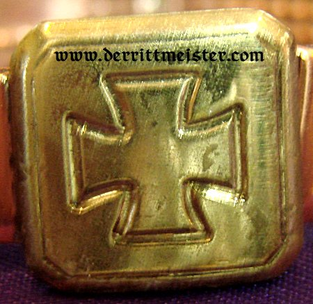 PATRIOTIC BRACELET - ARTILLERY SHELL DRIVING BAND - Imperial German Military Antiques Sale