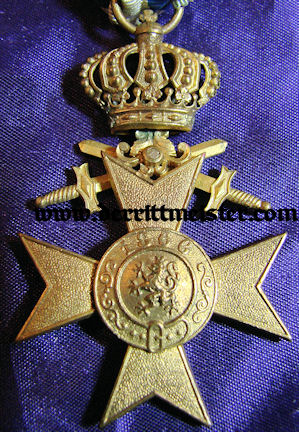 BAVARIA - AWARD DOCUMENT & DECORATION - MILITARY SERVICE CROSS 3rd CLASS - CROWN AND SWORDS - Imperial German Military Antiques Sale