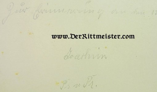 GERMANY - MUSIC PROGRAM - FUNCTION IN 1909 - Imperial German Military Antiques Sale