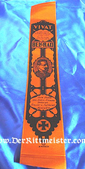 VIVAT RIBBON - GENERALOBERST von GALLWITZ AND BATTLE OF BELGRAD - Imperial German Military Antiques Sale
