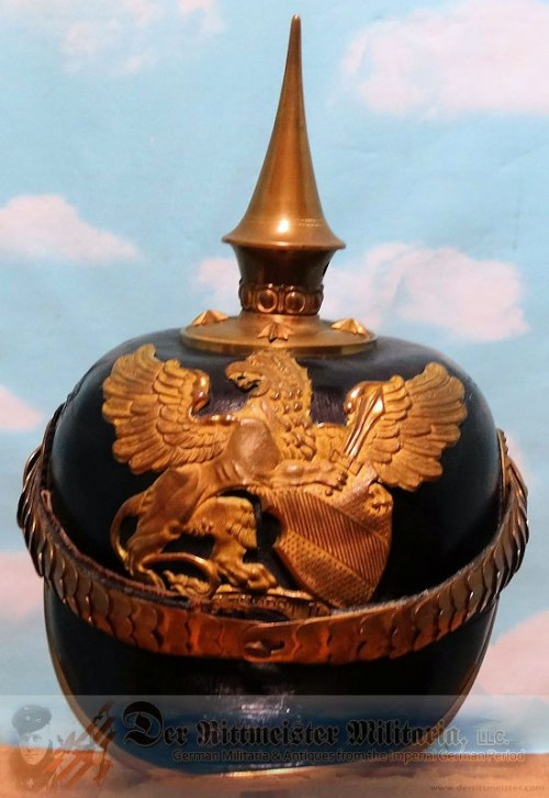 BADEN - PICKELHAUBE - OFFICER - IDENTIFIED ARTILLERIE REGIMENT MEDICAL