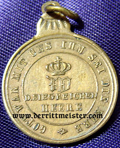 GERMANY - MINIATURE - 1870 COMBATANTS MEDAL - Imperial German Military Antiques Sale