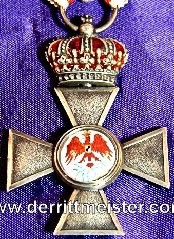 RED EAGLE ORDER 4th CLASS WITH CROWN - Imperial German Military Antiques Sale