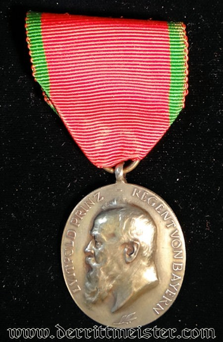 PRINZ REGENT LUITPOLD SILVER MEDAL 1905 - BAVARIA - Imperial German Military Antiques Sale