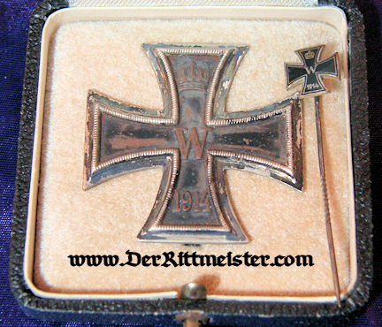 IRON CROSS - 1914 - 1st CLASS WITH STICKPIN - ORIGINAL PRESENTATION CASE